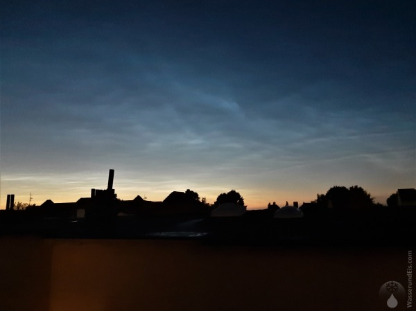 Leuchtende Nachtwolken Bremerhaven Nordsee