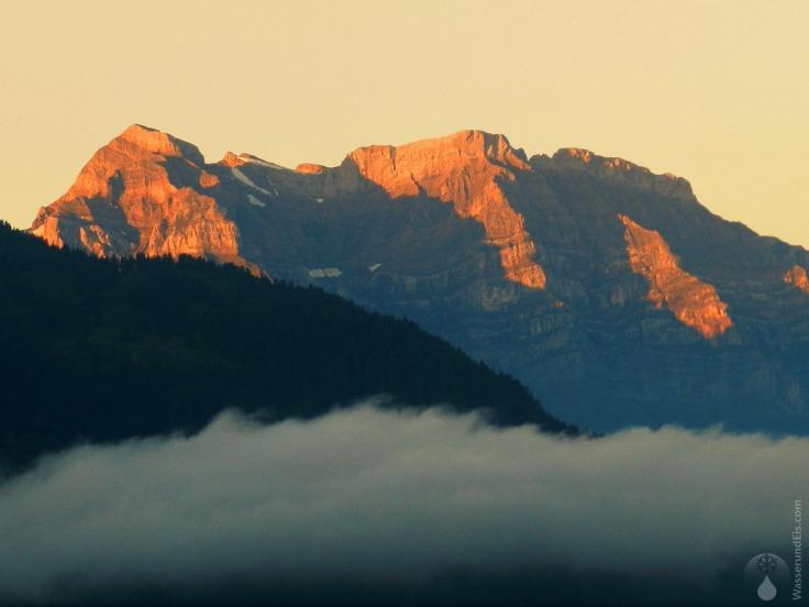 #Alpenglühen Glärnisch Sonnenuntergang 2019