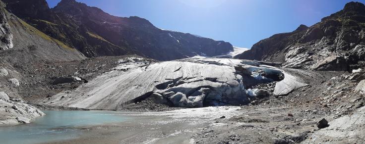 #Steingletscher Panorama Gletscherzunge