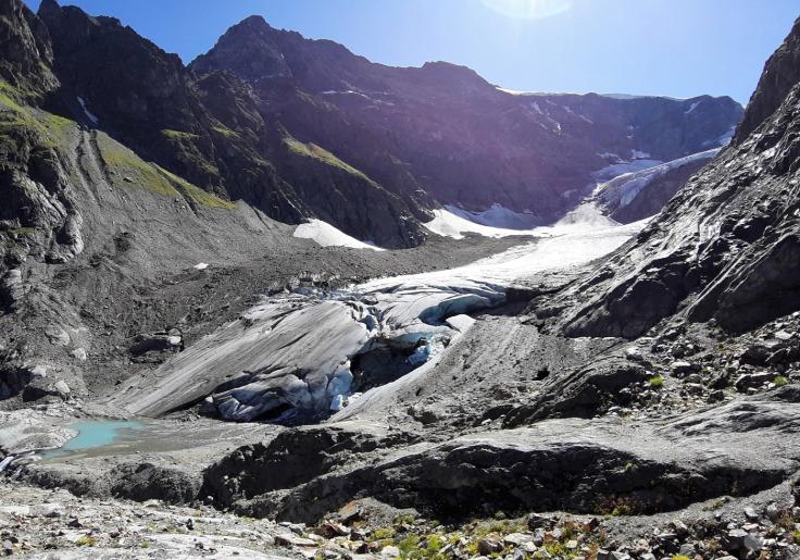 #Steingletscher Gletscherzunge 2019