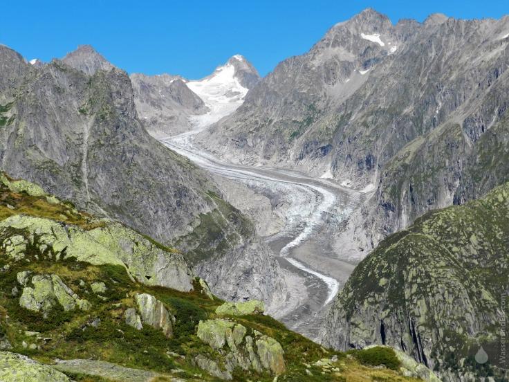 #Fieschergletscher Gletscherzunge