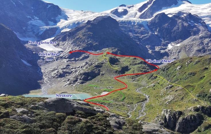 #Gletscherweg Steingletscher