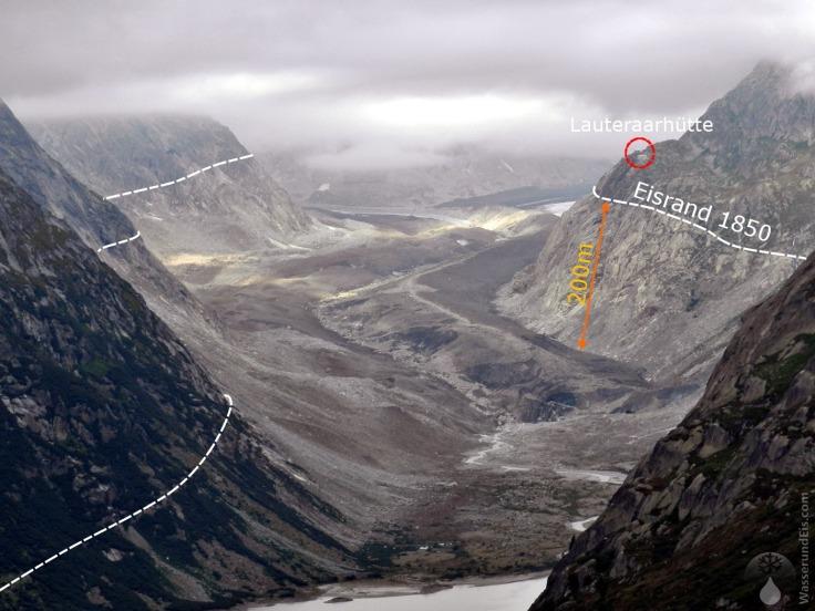 #Veränderungen Gletscherzunge Unteraargletscher