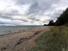 Kleiner Strand in der Bucht bei Ohrfeldhaff.
