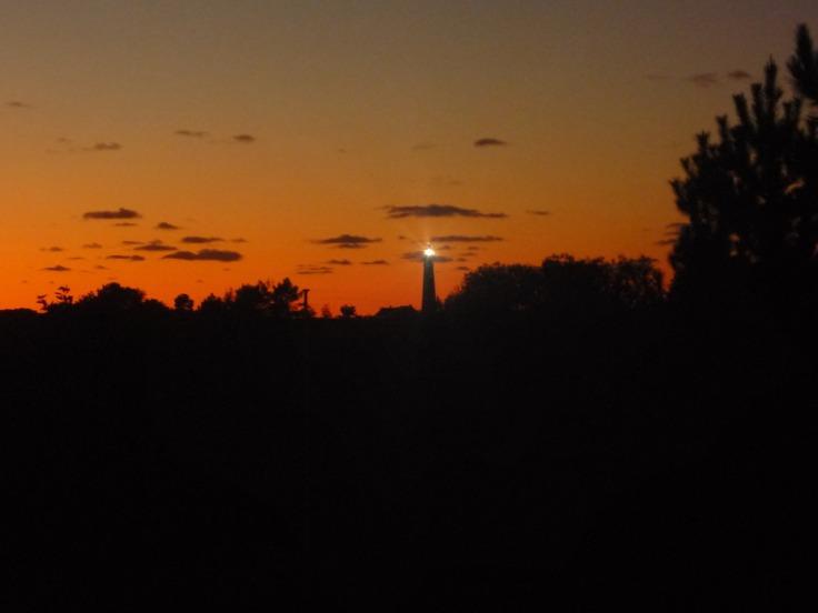 #Schiermoonikoog Dämmerung Leuchtturm Oktober 2009