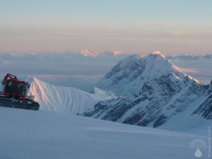 #Alpenglühen Zugspitze 2009