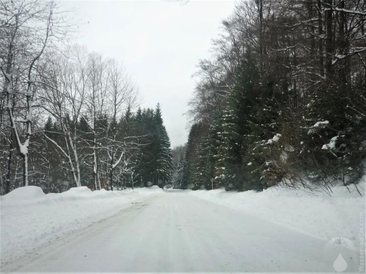 #Sternrodt Zufahrtsstraße Skigebiet 2010