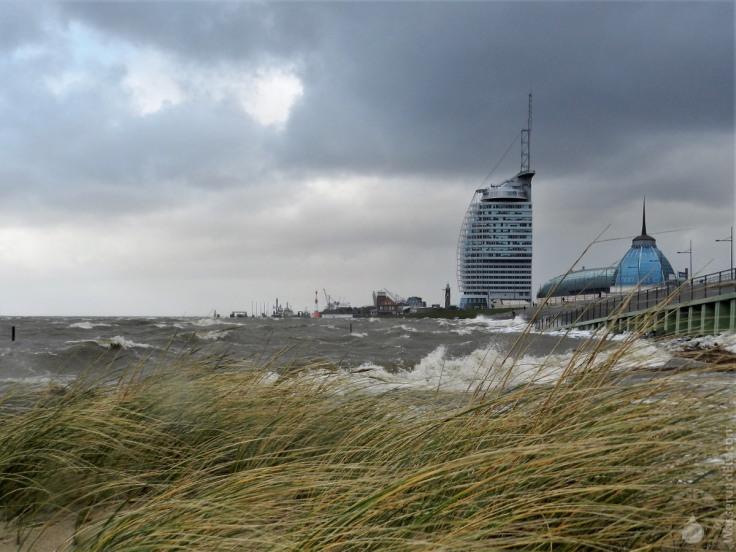 #Bremerhaven Sturmflut Havenwelten Nordseeküste