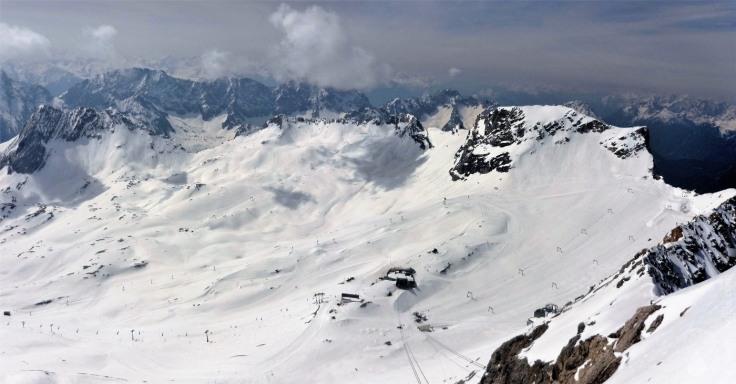 #Panorama Zugspitzplatt Skigebiet 2010