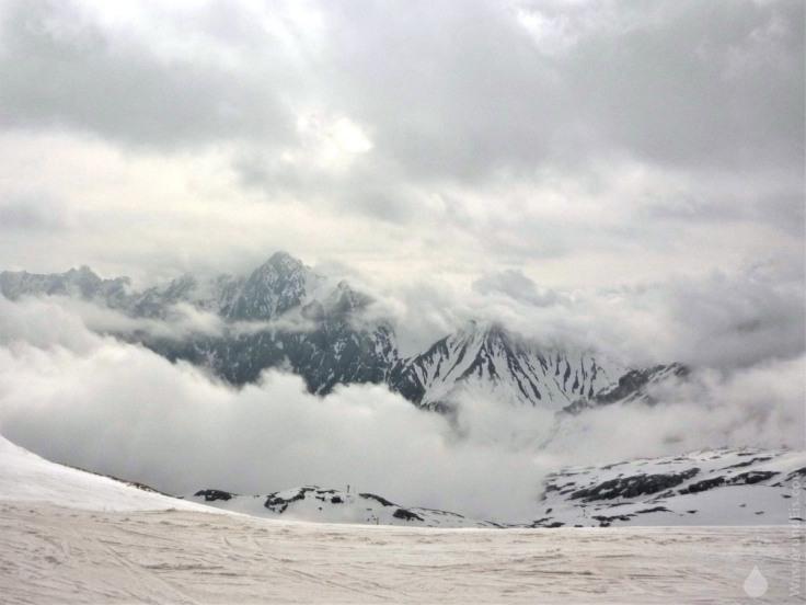 #Zugspitze Wolken Mai Skigebiet 2010
