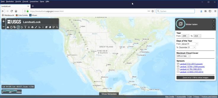 #LandsatLook Viewer