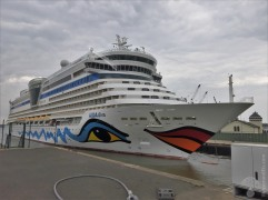 Die Aidadiva trägt wie alle Schiffe der Reederei das typische Aida-Design.