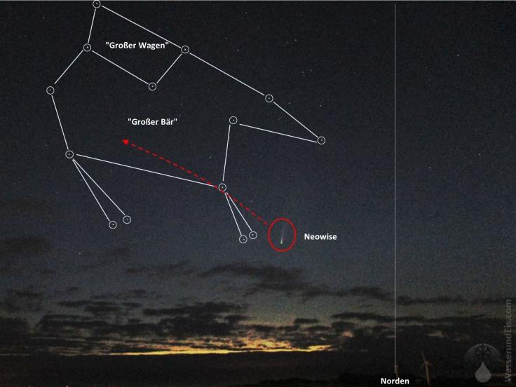 #Komet Neowise am Himmel finden