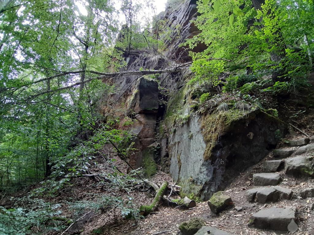 Die kurzen Aufstiege in der Sächsischen Schweiz sind steil und felsig.