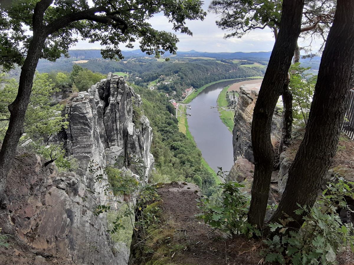#Bastei Felse Rathen Elbe Aussicht 2020