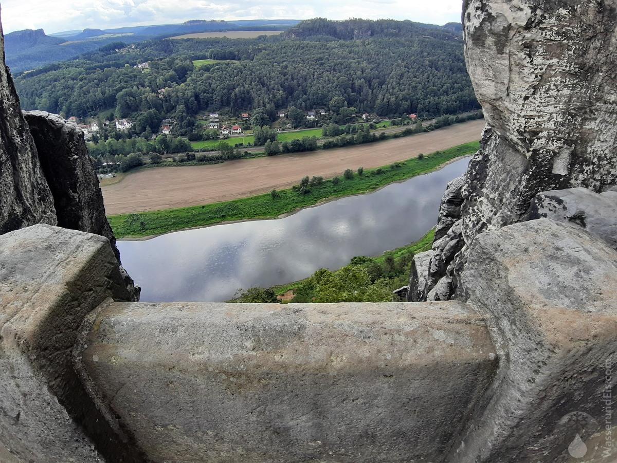 #Basteibrücke Elbe Ausblick