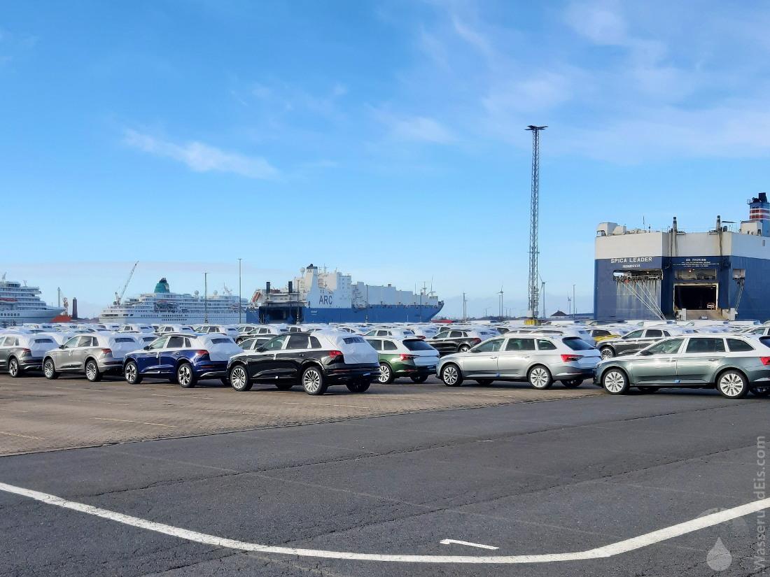 #Fahrzeugexport Bremerhaven Kaiserhafen 2021